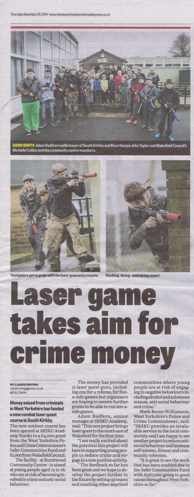 newspaper lazer quest